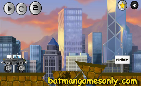 image of Batman Road Work: game scene level 2