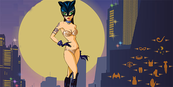 image of Catwoman Night Dressup: gameplay